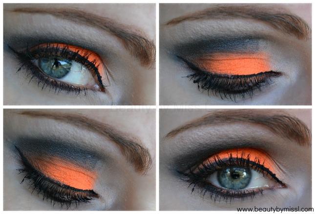 orange black smoky eye