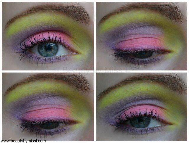 eyemakeup with BYS Limited Edition Neons eyeshadows
