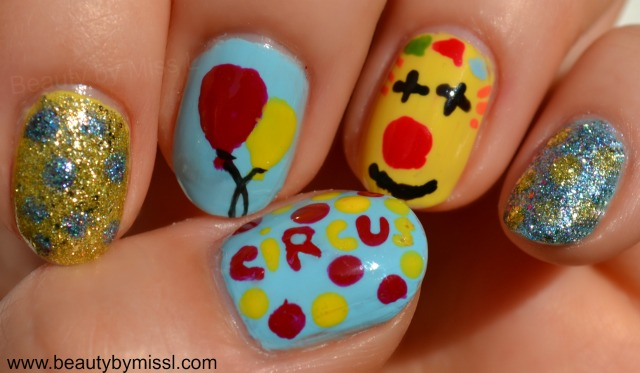 circus day manicure