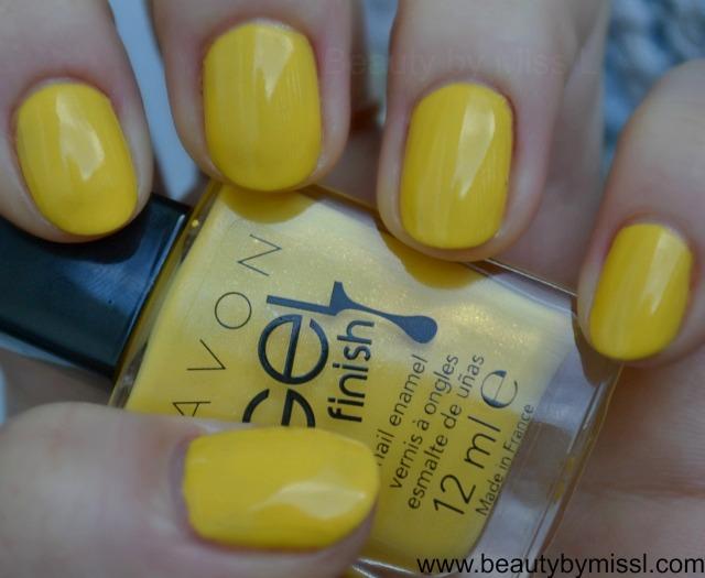 Avon Gel Finish nail polish - Limoncello