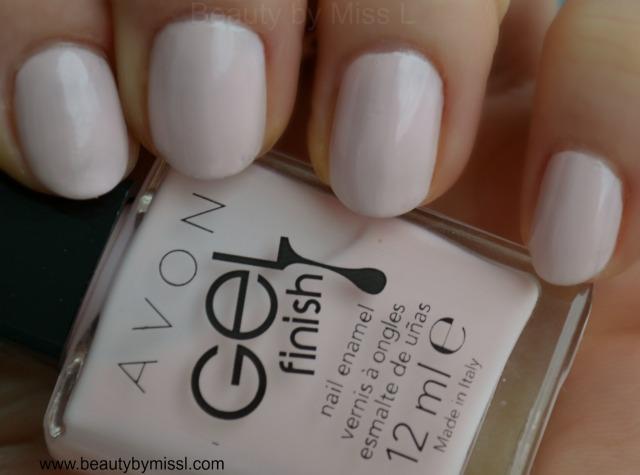 avon gel finish nail enamel sheer love