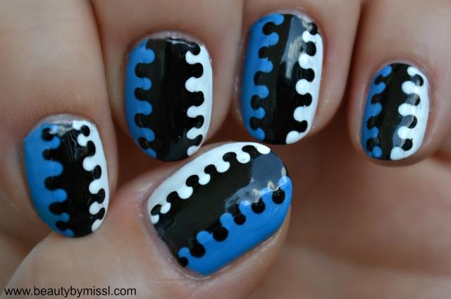tricolor interlock manicure