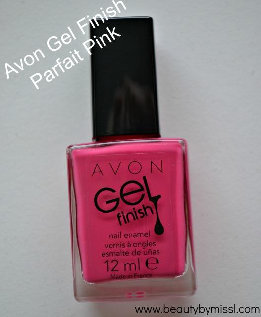 Avon Gel Finish nail polish Parfait Pink
