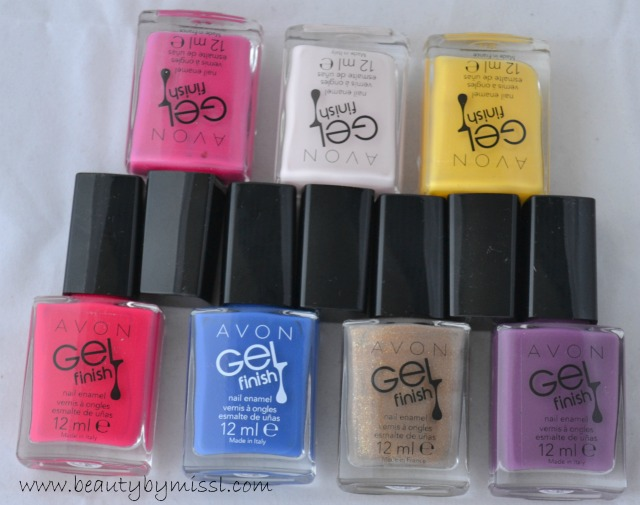 avon gel finish nail polishes