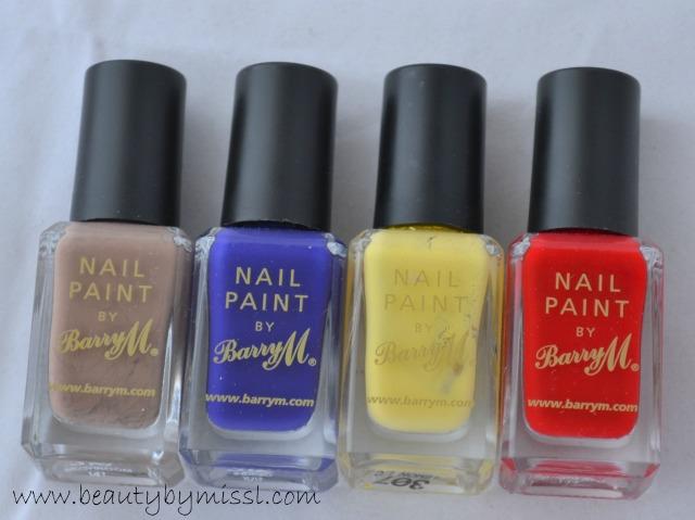Barry M nail paints