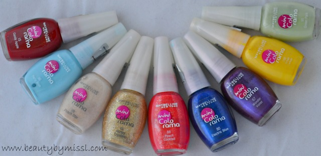 maybelline mini colorama nail polishes