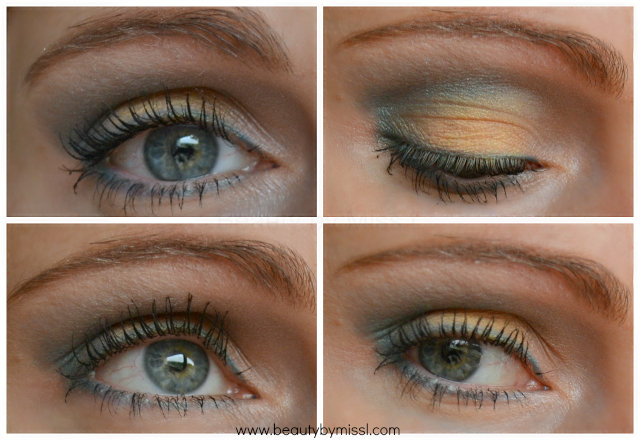 green yellow eye makeup