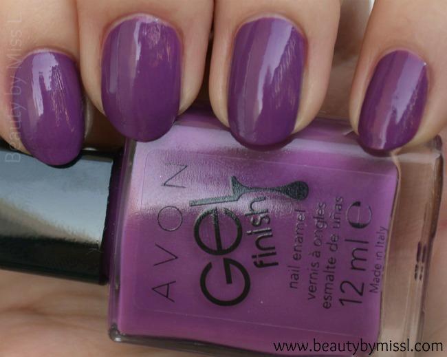 Avon Gel Finish nail polish in Purplicious swatches