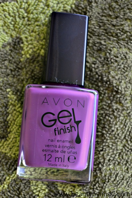 Avon Gel Finish nail polish in Purplicious