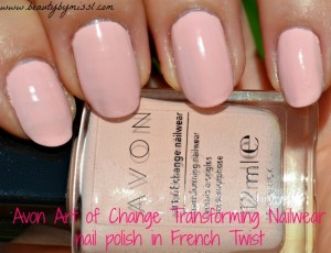 Avon Art of Change Transforming nailwear nail color in French Twist