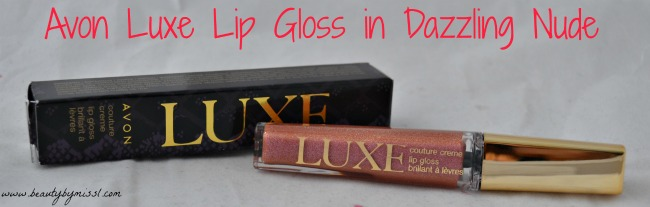 Avon Luxe lip gloss in Dazzling Nude