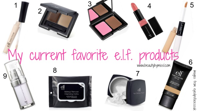 My current favorite e.l.f. products
