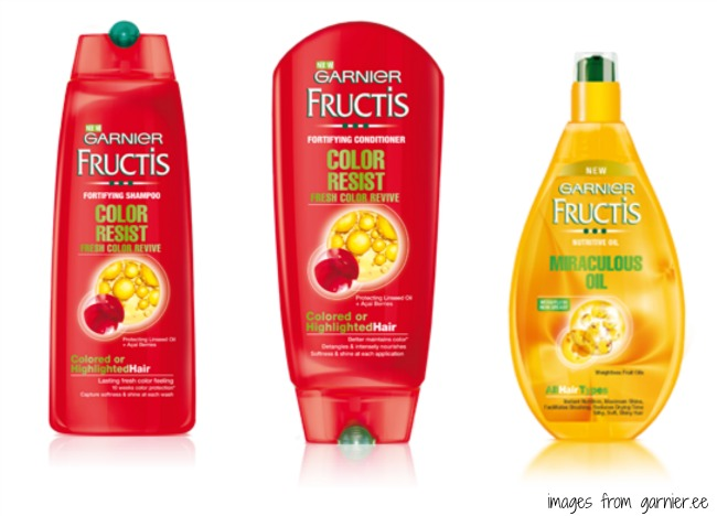 garnier fructis color resist and miraculous oil - Fructis Color Resist