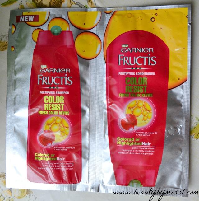 garnier fructis color resist shampoo conditioner - Fructis Color Resist