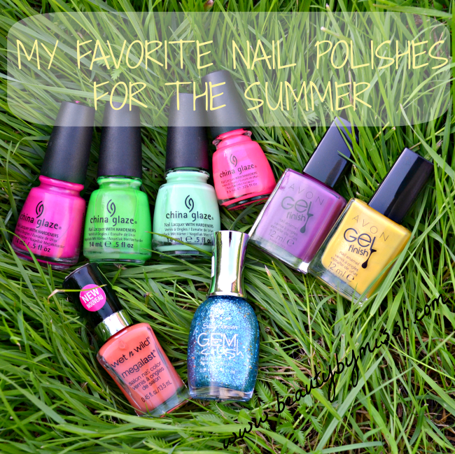 My favorite nail polishes for the summer