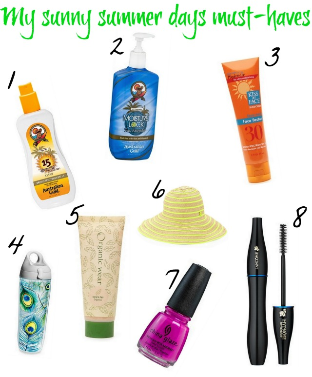 My sunny summer days must-haves