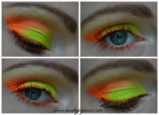 Orange and yellow eye makeup