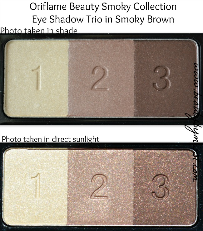 Oriflame Beauty Smoky Collection Eye Shadow Trio in Smoky Brown