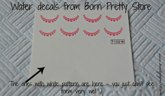 lace pattern water decals from Born Pretty Store