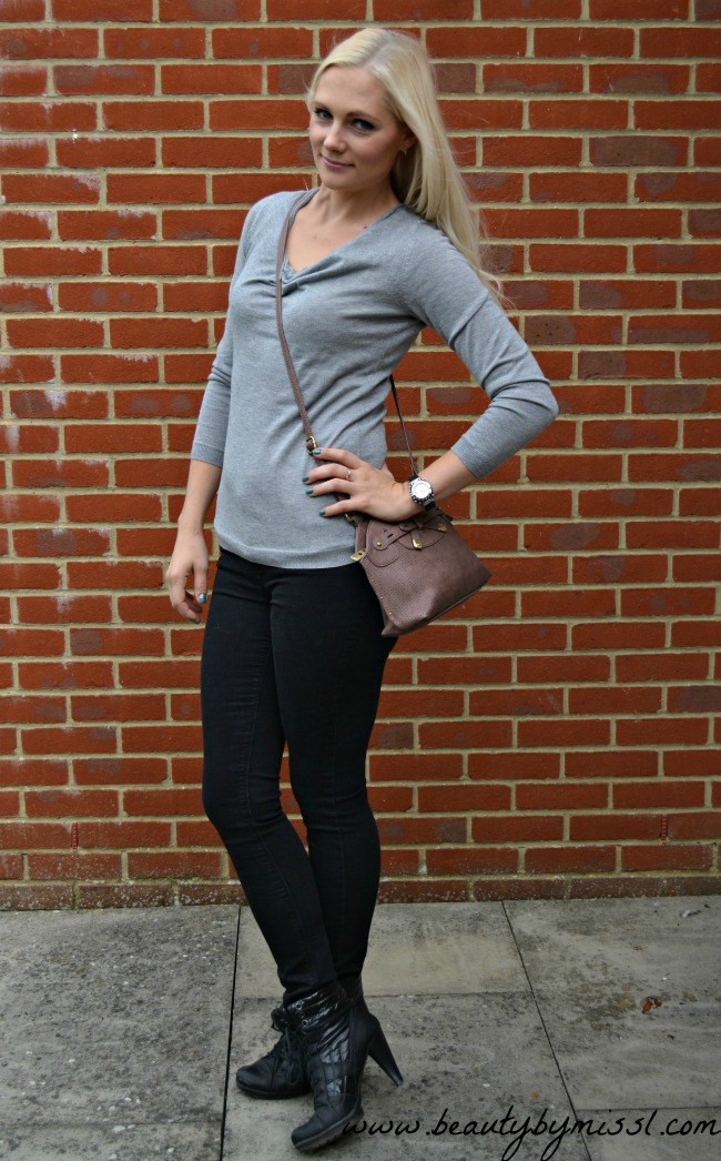 grey autumn outfit