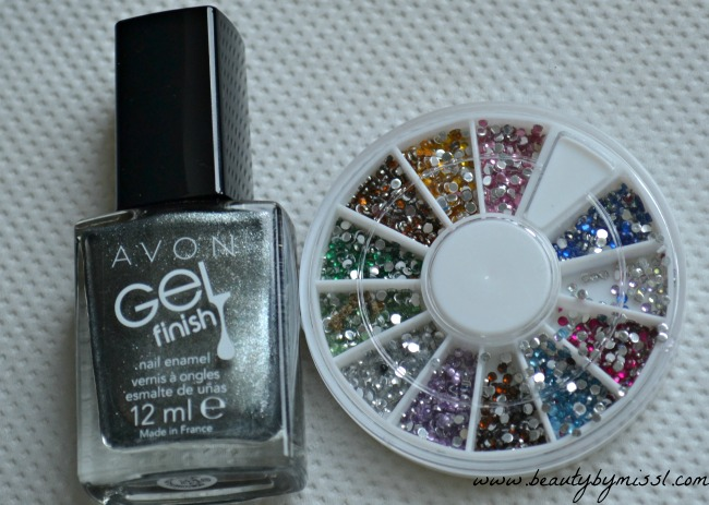 Avon Gel Finish Sterling, 1.5mm rhinestones