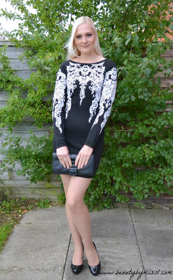 Black Long Sleeved dress from Sheinside