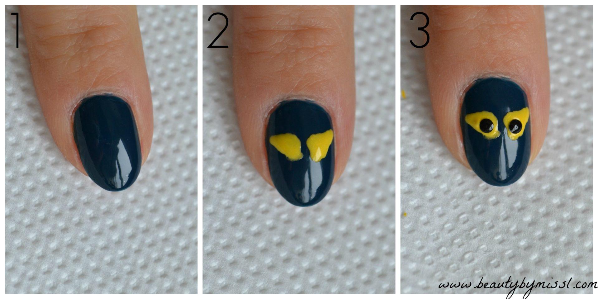 how to create spooky eyes nail art