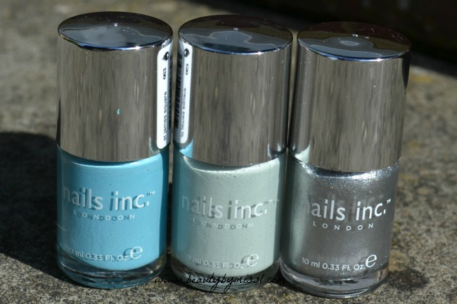 nails inc nail polishes used for water marble
