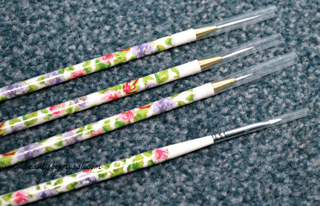 4pc Nail Art Brush Set