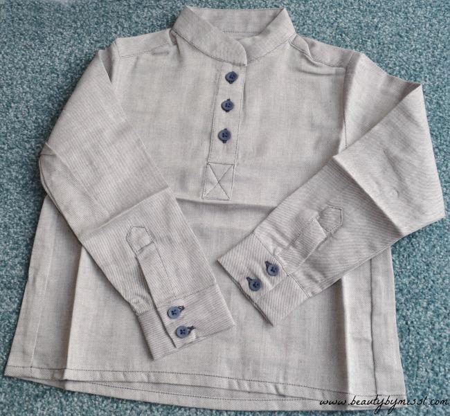 Blue Grandad Shirt from British brand Marmalade & Mash