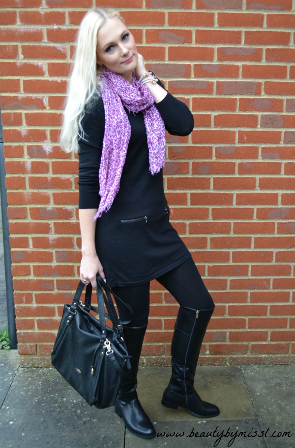 Black and purple outfit