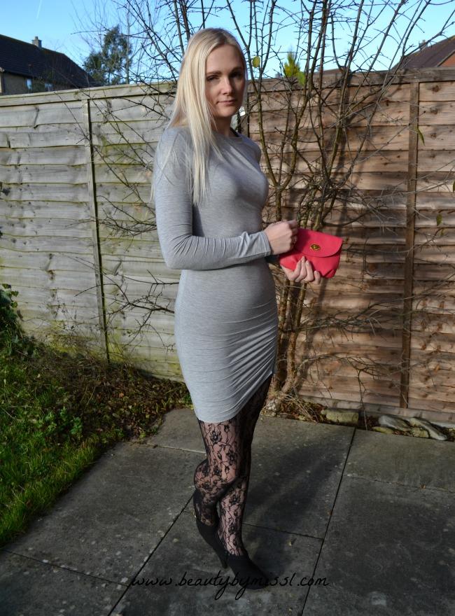 Grey bodycon dress from Sheinside