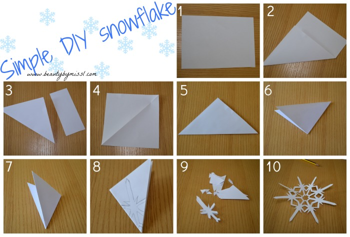 Simple DIY snowflake