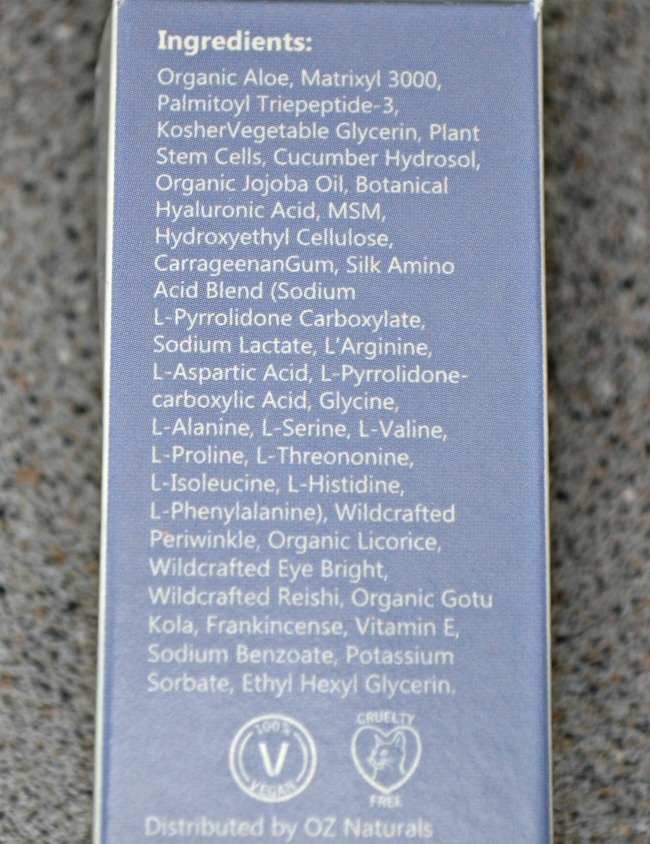 Super Youth Eye Gel ingredients