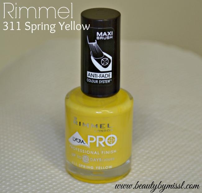 Rimmel 311 Spring Yellow