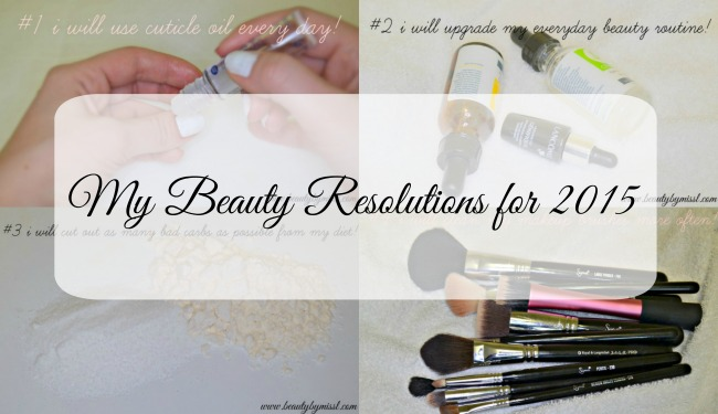 My Beauty Resolutions for 2015
