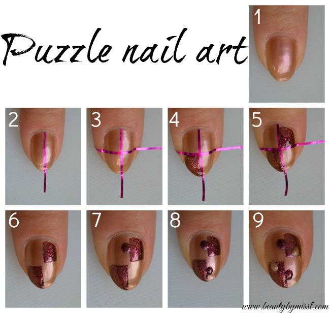 puzzle nail art tutorial