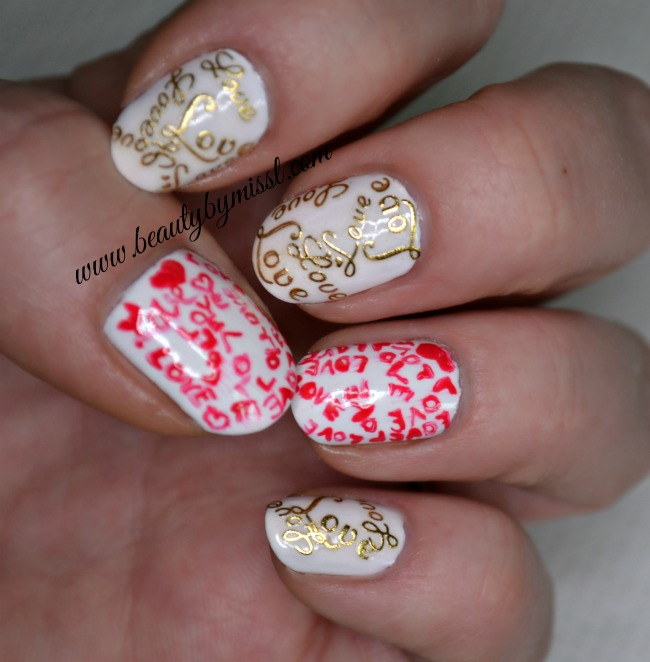 NOTD: Love Letters
