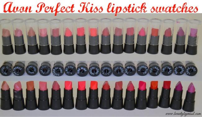 Avon Perfect Kiss lipstick swatches