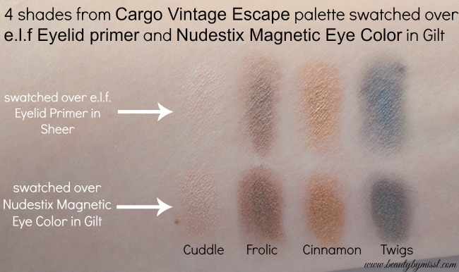 Magnetic Eye Color used as an eyeshadow primer