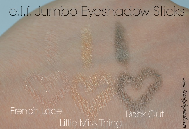 elf Jumbo Eyeshadow Stick swatches