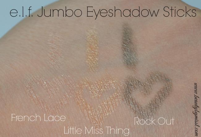 elf Jumbo Eyeshadow Stick swatches