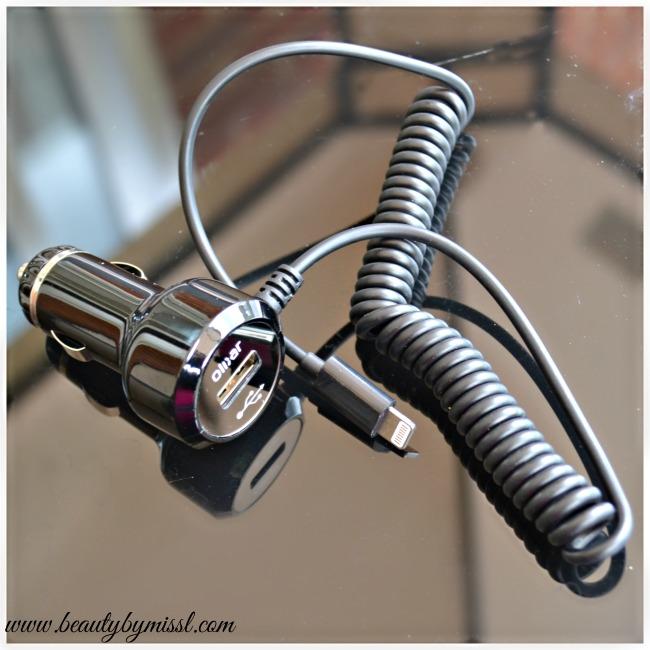 Olixar Super Fast Lightning Car Charger with USB Port