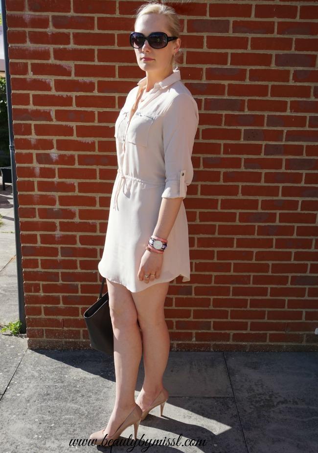 Blue Vanilla Chiffon shirt dress