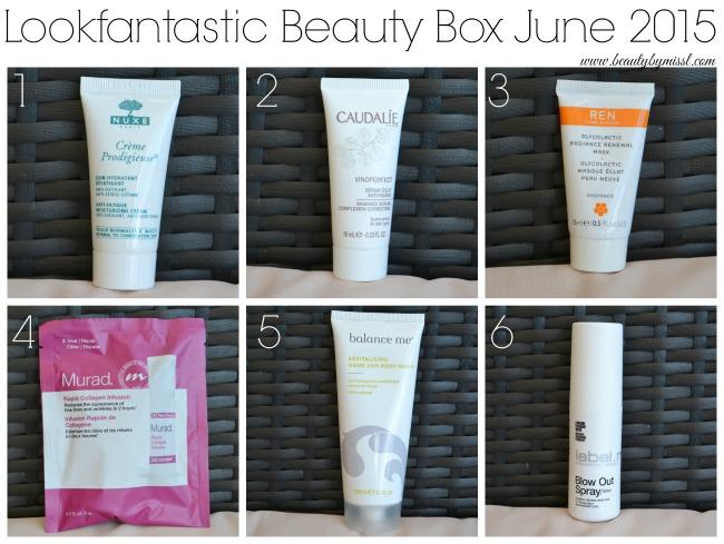 Lookfantastic Beauty Box June 2015