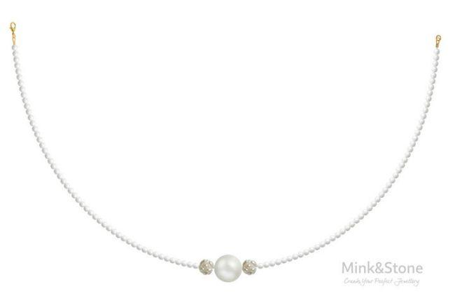 mink&stone necklace