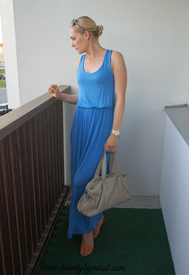 blue Boohoo maxi dress