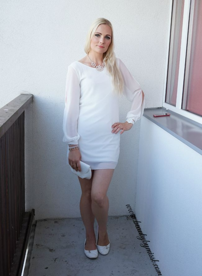 white outfit featuring white SheIn mini dress | www.beautybymissl.com