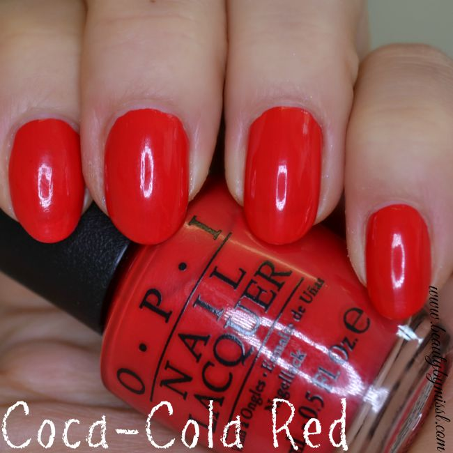 OPI Coca-Cola Red swatches