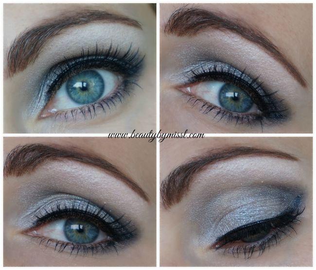 grey smoky eye with Essence How To Make Smokey Eyes makeup box | www.beautybymissl.com